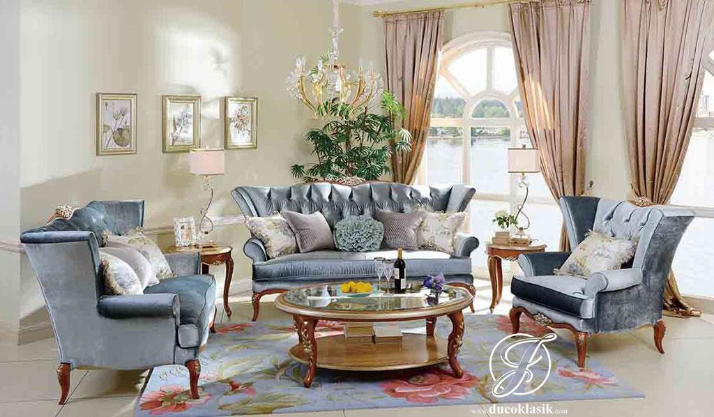 Set Kursi Sofa Tamu Ukir Talita Cantik
