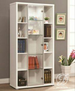 Lemari Buku Kaca Minimalis Simple Modern