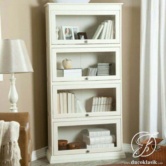 Jual Lemari Buku Kayu Minimalis Pintu Kaca | Furniture ...
