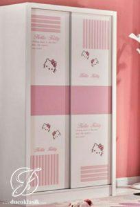 Lemari Pakaian Anak Perempuan Minimalis Sliding 2 Pintu