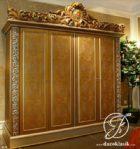 Lemari Pakaian Klasik 4 Pintu Racoco French Gold