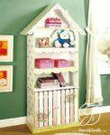 Rak Buku Anak Bentuk Rumah Minimalis
