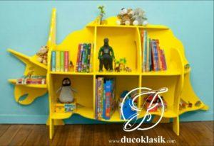 Rak Buku Anak Berkarakter Bentuk Badak