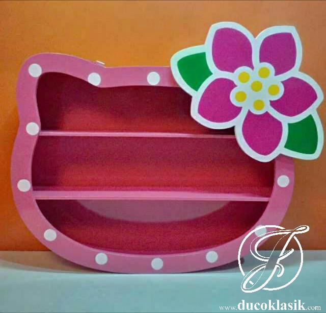 Rak Buku Anak Hello Kitty Cantik Minimalis Modern