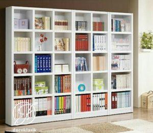 Rak Buku Perpustakaan Minimalis Simple Modern