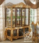 Lemari Hias Kaca Ukir Victorian Klasik