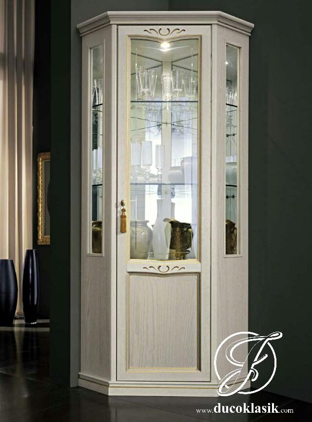 Jual Lemari Hias Sudut Minimalis Kaca Modern Furniture
