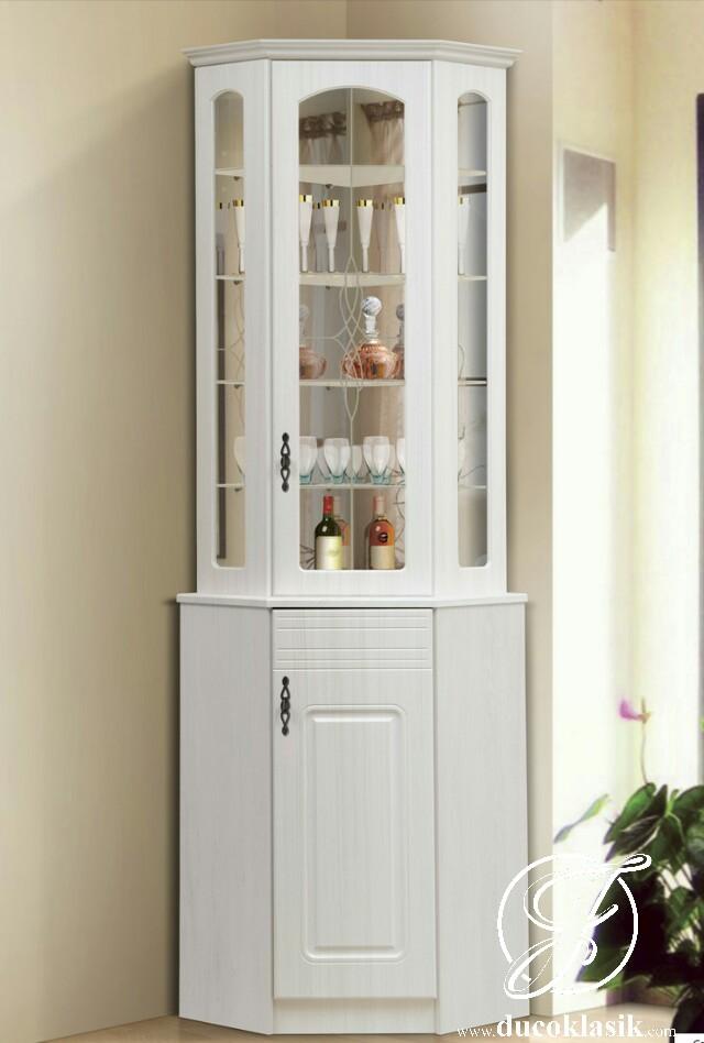 Jual Lemari Sudut Kaca Minimalis Simple Modern Furniture