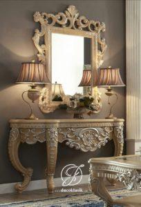 Set Meja Konsol Mirror Ukir Victorian Classic