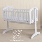 Ayunan Box Bayi Goyang Minimalis Putih