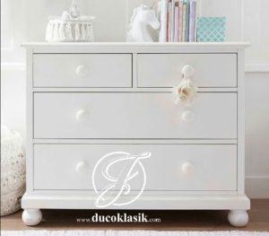 Baby Tafel Minimalis Putih 4 Laci