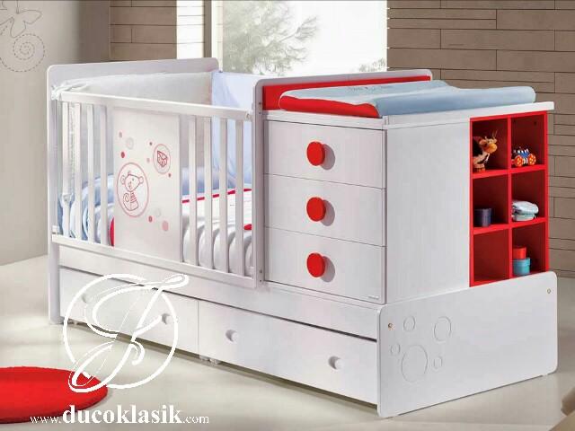 Box Bayi Lucu Multifungsi Duco Putih Merah