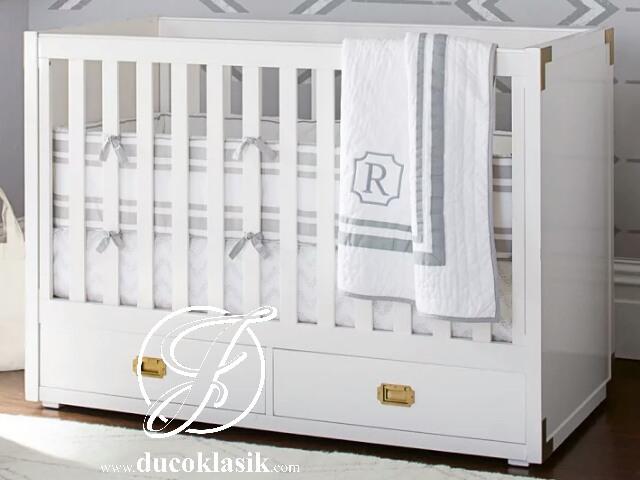 Box Bayi Minimalis Putih 2 Laci