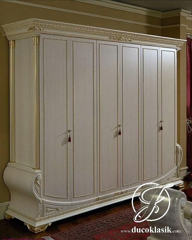 Lemari Pakaian 6 Pintu Royal Ukir Mewah