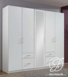 Lemari Pakaian Minimalis Modern 5 Pintu