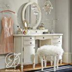 Meja Rias Minimalis Mirror Cermin Oval Modern