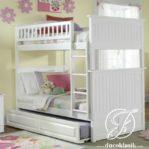 Tempat Tidur Anak 3 Tingkat Minimalis Sorong Laci