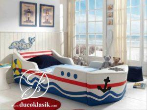 Tempat Tidur Anak Laki Laki Minimalis Bentuk Kapal
