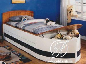 Tempat Tidur Anak Laki Laki Minimalis Bentuk Perahu