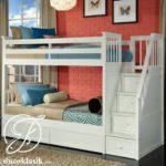 Tempat Tidur Anak Minimalis Tingkat Tangga Laci