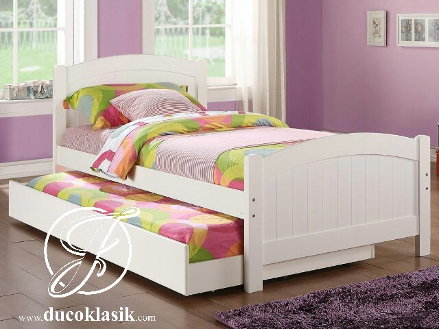 Jual Tempat Tidur Anak Perempuan Minimalis Laci Sorong Furniture