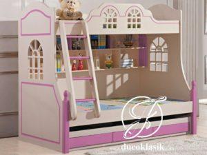 Tempat Tidur Anak Perempuan Tingkat Minimalis Modern
