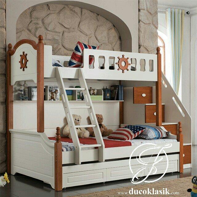 Tempat Tidur Anak Tingkat Minimalis Desain Kapal