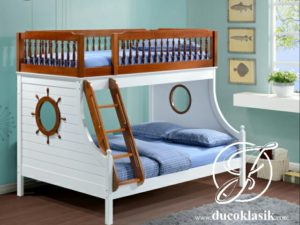 Tempat Tidur Anak Tingkat Minimalis Desain Perahu