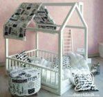 Tempat Tidur Bayi Kelambu Bentuk Rumah