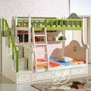 Tempat Tidur Tingkat Tangga Laci Minimalis Modern