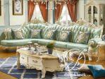 Set Ruang Tamu Sudut Mewah Sofa Ukir Klasik