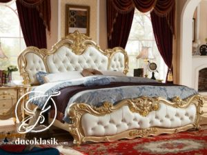 Tempat Tidur Busa Jok Ukir French Klasik Terbaru