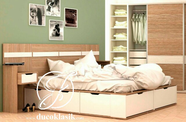 Tempat Tidur Full Laci Minimalis Modern