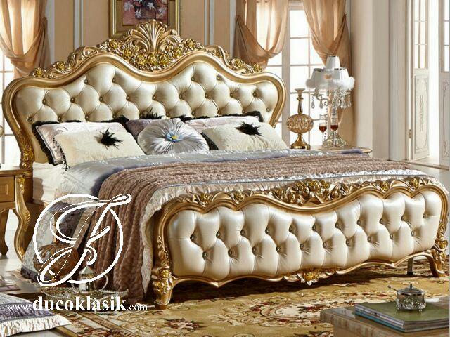 Tempat Tidur Gold Ukir Eropa Mewah