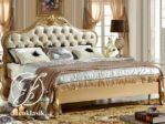 Tempat Tidur Klasik Ukir Eropa Gold