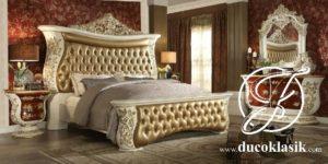 Tempat Tidur Mewah Ukir Klasik Eropa Terbaru