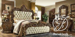 Tempat Tidur Mewah Ukir Victorian Klasik