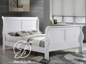 Tempat Tidur Minimalis Louis Duco Putih