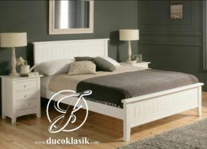 Tempat Tidur Simple Kayu Minimalis Modern