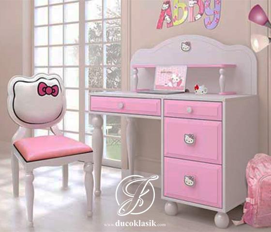 Meja Belajar Anak Hello Kitty Minimalis Modern