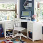 Meja Komputer Sudut Minimalis Modern Cat Duco Putih
