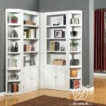 Lemari Buku Minimalis Sudut Pojok Ruangan