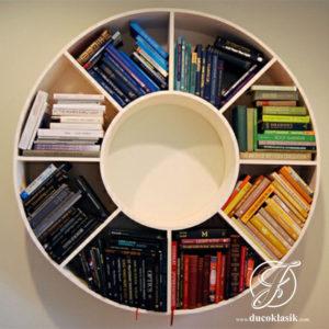 Rak Buku Dinding Minimalis Bulat
