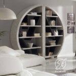 Rak Buku Oval Minimalis Modern