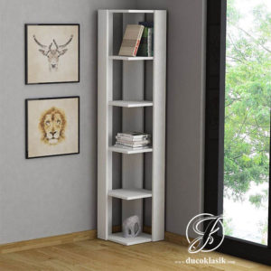 Rak Buku Sudut Pojok Ruangan Minimalis Modern