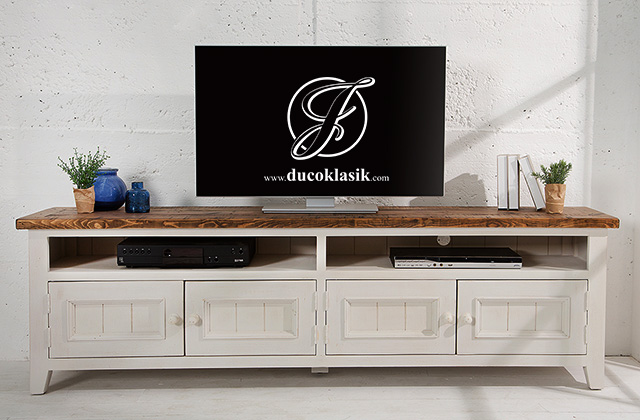 Bufet TV Minimalis Klasik 4 Laci Pintu