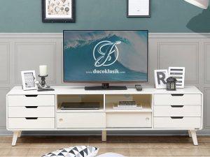 Meja TV Minimalis Modern Full Laci